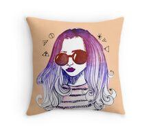 Ombre Hair 1  Throw Pillow