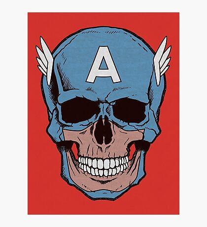 Captain Amerikilled Photographic Print