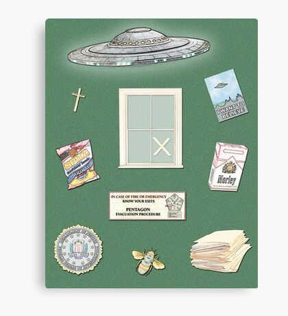 X-Files inspired poster (etc) Canvas Print