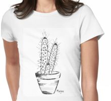 Cactus love (Trichocereus) Womens Fitted T-Shirt