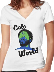 Cole World Women's Fitted V-Neck T-Shirt