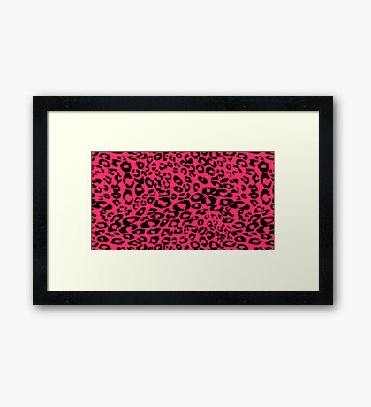 Pink Cheetah Girly Design!! Framed Print