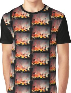 SUNSET IN HOLLYWOOD CALIFORNIA Graphic T-Shirt