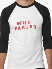 """Puscifer """"Who Farted"""" Conditions of My Parole Men's Baseball ¾ T-Shirt"""