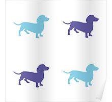 Sausage Dog Pattern Poster