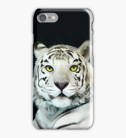 ☝ ☞ LOOKING INTO THE EYES OF THE WHITE TIGER☝ ☞ iPhone Case/Skin