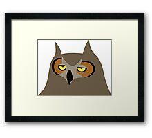 Bored Owl Framed Print