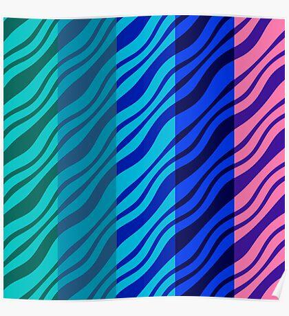 Wavy Stripes Poster