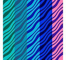 Wavy Stripes Photographic Print