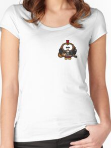 Punk Owl Women's Fitted Scoop T-Shirt