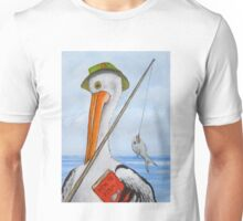 Pete the Pelican has gone Fishin Unisex T-Shirt