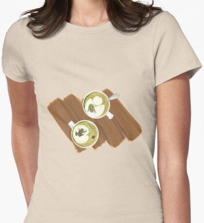 Green Frog Tea Womens Fitted T-Shirt