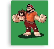 Hey paesanos, it's the Wrecking Bros. Super Show! Canvas Print
