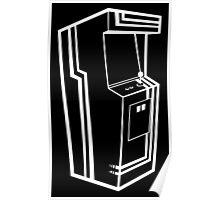 Arcade Black & White Poster