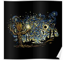Super Starry night abstrac Poster