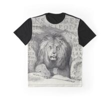 Victorian Lion Print Graphic T-Shirt