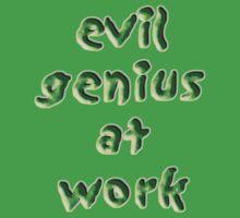 evil genius at work Kids Tee