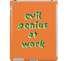 evil genius at work iPad Case/Skin
