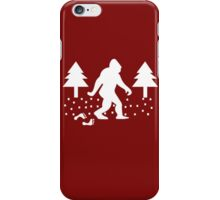 Sasquatch Ugly Christmas funny nerd geek geeky iPhone Case/Skin
