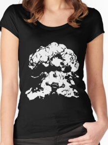 Ziggs Explosion Black&White Women's Fitted Scoop T-Shirt