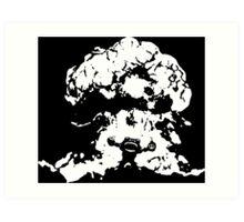 Ziggs Explosion Black&White Art Print