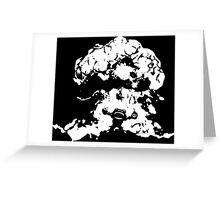 Ziggs Explosion Black&White Greeting Card