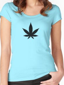 Marijuana/Cannabis iconic design Women's Fitted Scoop T-Shirt