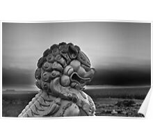 Foo Dog on Route 66-Moody Poster