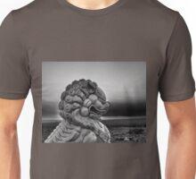 Foo Dog on Route 66-Moody Unisex T-Shirt