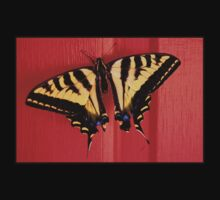 tiger swallowtail butterfly on unusual background Kids Clothes