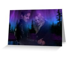 Captain Swan Tie Dyed Night Greeting Card