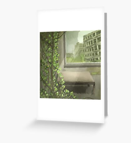 An Abandoned Building Greeting Card