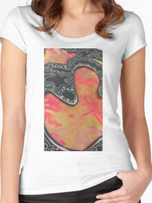 Pinks and Oranges Women's Fitted Scoop T-Shirt