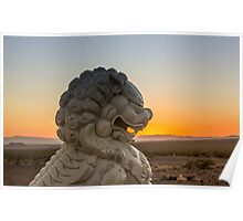 Foo Dog on Route 66 Poster