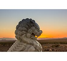 Foo Dog on Route 66 Photographic Print