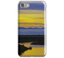 sunset over the olympics iPhone Case/Skin