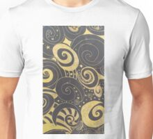 Black and Gold drawing Unisex T-Shirt