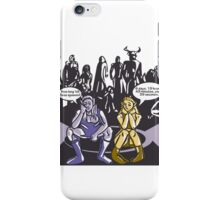 Dark Elf and Wood Elf At Camp Waiting For Boss: Everquest MMORPG funny Comic-Style Hand-Drawn Illustration  iPhone Case/Skin