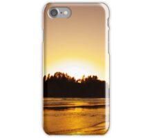 sunset gold, james island, washington, usa iPhone Case/Skin