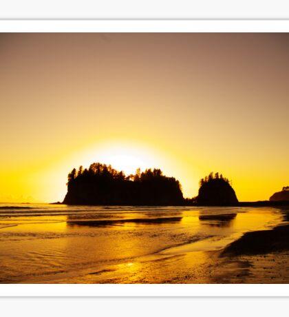 sunset gold, james island, washington, usa Sticker
