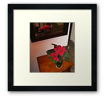 Poinsettia Reflected Framed Print