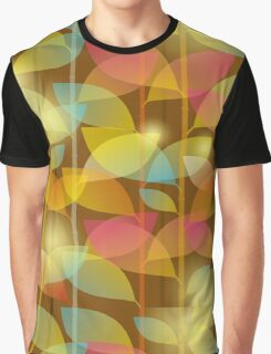 seamless pattern of colored leaves Graphic T-Shirt