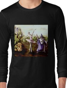 A Ballerina, Wizard, and Teddy Bear in a Children's Fairytale digital painting Long Sleeve T-Shirt