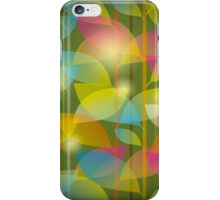 seamless pattern of colored leaves iPhone Case/Skin