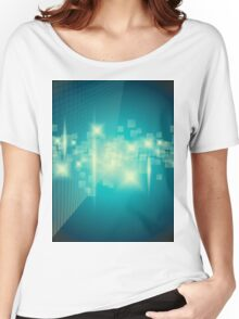 Abstract blue background Women's Relaxed Fit T-Shirt