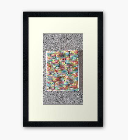 Knitted Art Framed Print
