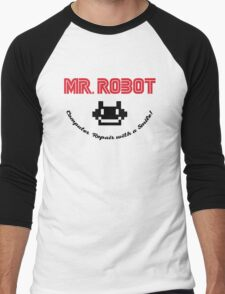 Mr. Robot logo Men's Baseball ¾ T-Shirt