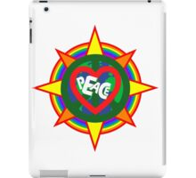 Peace on earth (sun, bird, heart, rainbow, peace sign) iPad Case/Skin