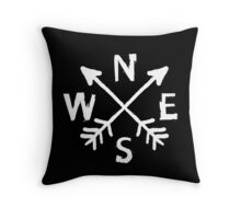 Chalky Sketch Compass Throw Pillow