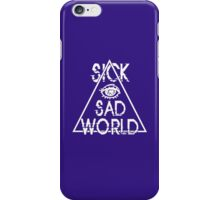 Sick Sad World T-shirt Tshirt Top Inspired Tshirt Grunge Punk 90s funny nerd geek geeky iPhone Case/Skin